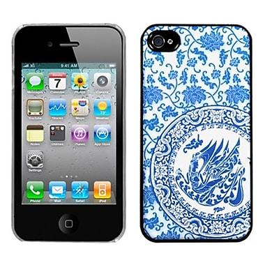 Insten® Back Protector Cover F/iPhone 4/4S, T Blue and White Porcelain Plate Dream