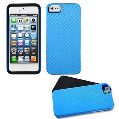 Insten® Crosshatch Fusion Protector Cover F/iPhone 5/5S; Blue