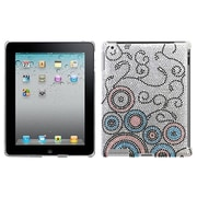Insten Diamante SmartSlim Back Protector Cover For iPad 2/3/4, Bubble Flow (1015479)