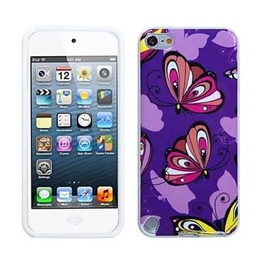 Insten ? Étui en plastique TPUR Gummy pour iPod touch 5e génération, brigade de papillons (1015486)