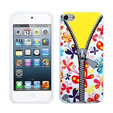 Insten TPU Plastic Gummy Skin Phone Cover For iPod Touch 5th Gen, Butterfly/Zipper (1015497)