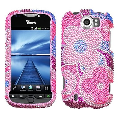 Insten Diamante Protector Case For HTC myTouch 4G Slide, Colourful Flowers (1015671)