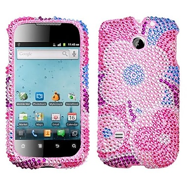 Insten Diamante Protector Cover For Huawei M865 Ascend II/U8651T Prism/U8651S, Colourful Flowers (1015672)