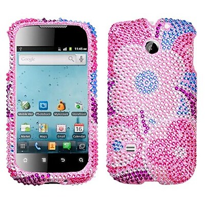 Insten® Diamante Protector Cover For Huawei M865 Ascend II/U8651T Prism/U8651S, Colorful Flowers