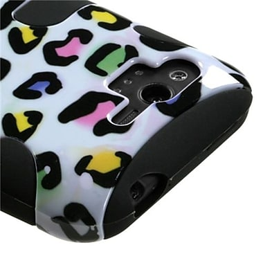 Insten® Protector Case For HTC ADR6330 Rhyme, Black Colorful Leopard Fishbone