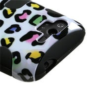 Insten® Protector Case For HTC ADR6330 Rhyme; Black Colorful Leopard Fishbone