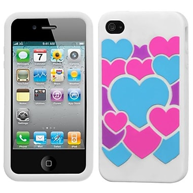 Insten® Pastel Skin Case F/iPhone 4/4S, Colorful Love/White