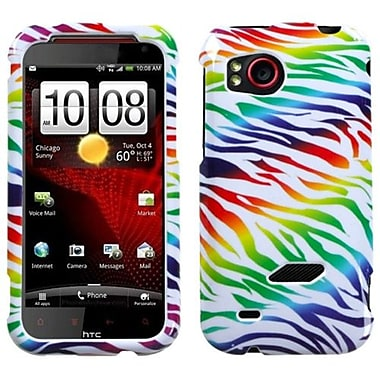 Insten® Protector Case For HTC ADR6425 Rezound, Colorful Zebra