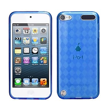 Insten Argyle Pane Candy Skin Cover For iPod Touch 5th Gen, Dark Blue (1015798)