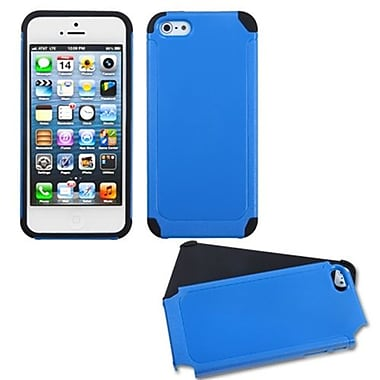 Insten Fusion Protector Cover For iPhone 5/5S, Dark Blue/Black Frosted (1015822)