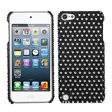 Insten® Diamante Dots Phone Back Protector Cover For iPod Touch 5th Gen, Black/White