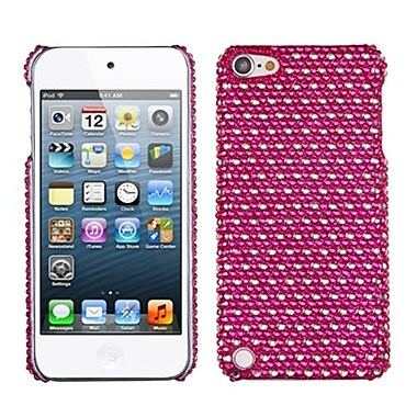 Insten Dots Diamante Back Protector Cover For iPod Touch 5th Gen, Hot Pink/White (1015899)