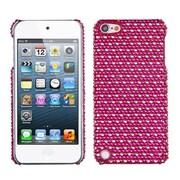 Insten – Étui protecteur arrière à diamants pour iPod touch 5e génération, rose vif/blanc (1015899)