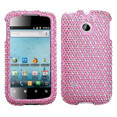 Insten® Diamante Phone Protector Case For Huawei M865 Ascend II; Pink/White Dots