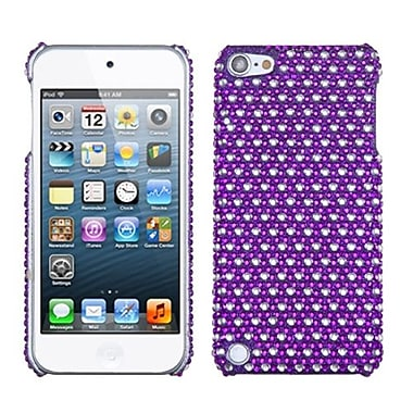 Insten® Dots Diamante Back Protector Cover For iPod Touch 5th Gen, Purple/White