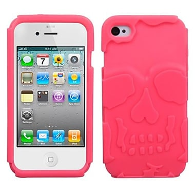 Insten® Skullcap Base Hybrid Protector Cover F/iPhone 4/4S, Electric Pink