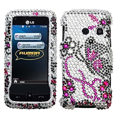 Insten® Diamante Protector Case For LG LN510 Rumor Touch/UN510 Banter Touch, Elegant Butterfly
