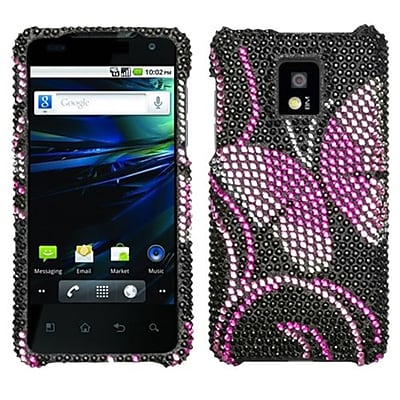 Insten® Diamante Protector Case For LG P999 G2X, Fairyland Butterfly