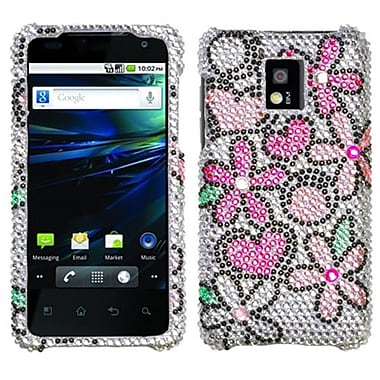 Insten® Diamante Protector Case For LG P999 G2X, Fantastic Flowers