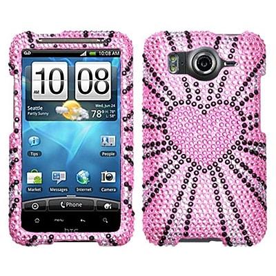 Insten® Diamante Protector Cover For HTC Inspire 4G, Fervor Heart