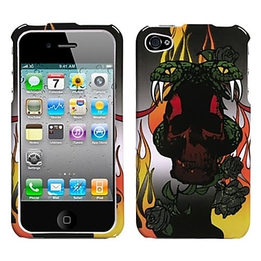 Insten Phone Protector Cover For iPhone 4/4S, Fire Snake (1016013)