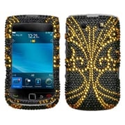 Insten Diamante Protector Case For RIM BlackBerry 9800/9810, Golden Butterfly by