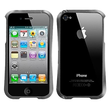 Insten® Chrome Coating Metal Surround Shield Protector Cover F/iPhone 4/4S, Gray Nitro