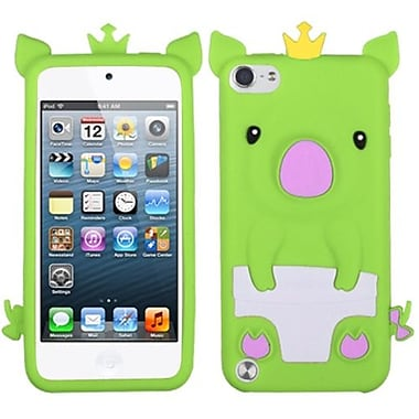 Insten Crown Piggie Pastel Skin Cover For iPod Touch 5th Gen, Green (1016102)