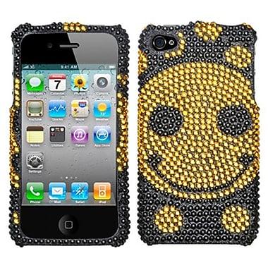 Insten® Diamante Protector Cover F/iPhone 4/4S, Happy Face