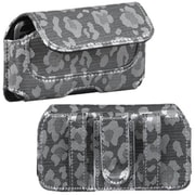 Insten® Horizontal Pouch Belt Clip For iPod Touch 4th Gen, Silver/Gray Watermark