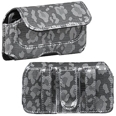 Insten® Horizontal Pouch Belt Clip For iPod Touch 4th Gen; Silver/Gray Watermark (1016246)
