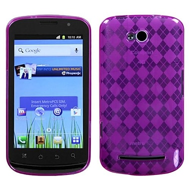 Insten® Argyle Candy Skin Cover For Coolpad 5860E Quattro 4G, Hot-Pink