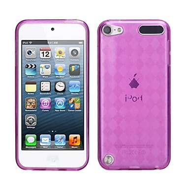 Insten® Argyle Pane Candy Skin Cover For iPod Touch 5th Gen, Hot-Pink
