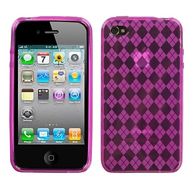 Insten® Argyle Candy Skin Cover F/iPhone 4/4S, Hot-Pink PaneFragrance