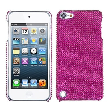 Insten Diamante Back Protector Cover For iPod Touch 5th Gen, Hot Pink (1016395)