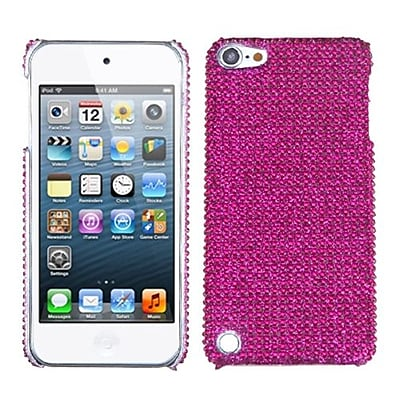 Insten® Diamante Back Protector Cover For iPod Touch 5th Gen, Hot-Pink