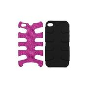 Insten® Diamante/Fishbone Phone Protector Cover F/iPhone 4/4S, Black/Pink