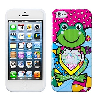 Insten® Argyle Candy Skin Cover F/iPhone 5/5S, Hot-Pink Lotus Frog