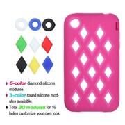 Insten® Skin Cover F/iPhone 3G/3GS, Hot-Pink Module