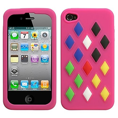 Insten Skin Cover For iPhone 4/4S, Hot Pink Module (1016448)