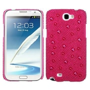 Insten® Diamante Back Protector Case For Samsung Galaxy Note II, Hot-Pink Pearl