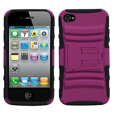 Insten® Protector Cover W/Advanced Armor Stand F/iPhone 4/4S, Hot-Pink/Black