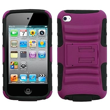 Insten Advanced Armor Protector Cover With Stand For iPod Touch 4th Gen, Hot Pink/Black (1016479)