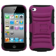 Insten® Advanced Armor Protector Cover With Stand For iPod Touch 4th Gen, Hot-Pink/Black
