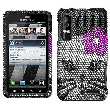 Insten® Diamante Protector Cover For Motorola XT862 Droid 3, Kitty