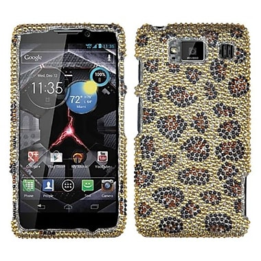 Insten Diamante Protector Case For Motorola XT926W Droid RAZR HD, Leopard/Camel (1016662)