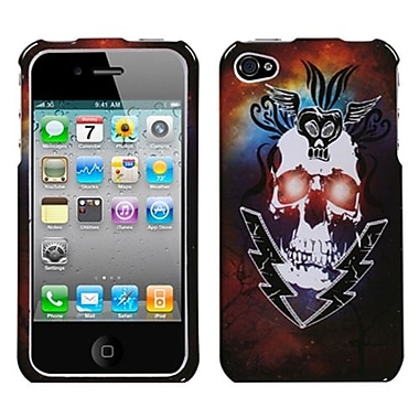 Insten Phone Protector Cover For iPhone 4/4S, Lightning Skull (1016720)