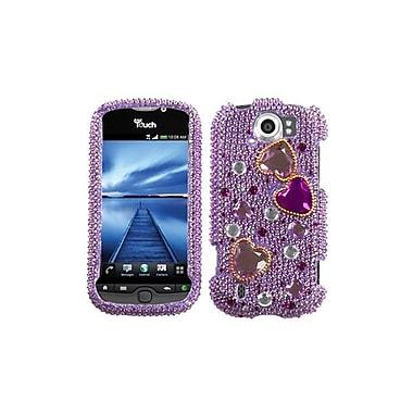 Insten® Diamante Protector Case For HTC myTouch 4G Slide, Love Crash