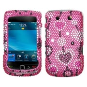 Insten Diamante Faceplate Case For RIM BlackBerry 9800, Love River by