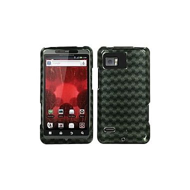 Insten® Protector Case For Motorola XT875 Droid Bionic, Metal Plaid 2D Silver